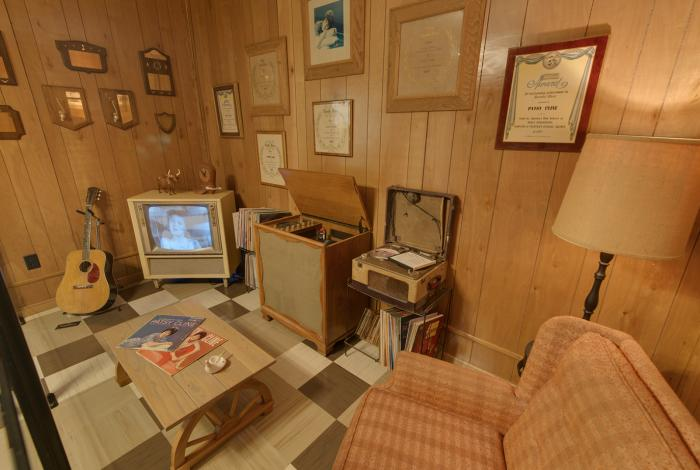 A room inside the Patsy Cline Museum in Nashville Tennessee