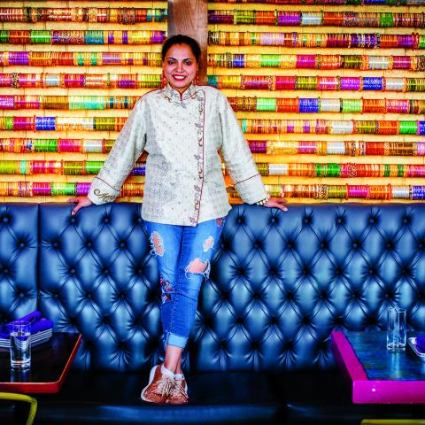 Chef Maneet Chauhan at her restaurant Chaatable in west Nashville, TN.