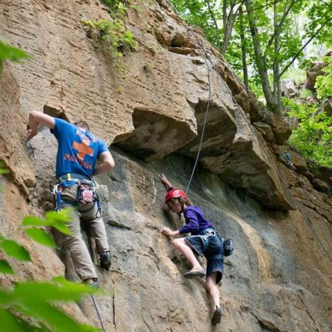 Rock climbers in Clarksville, Tennessee