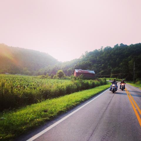 Motorcycle route in Cookeville TN