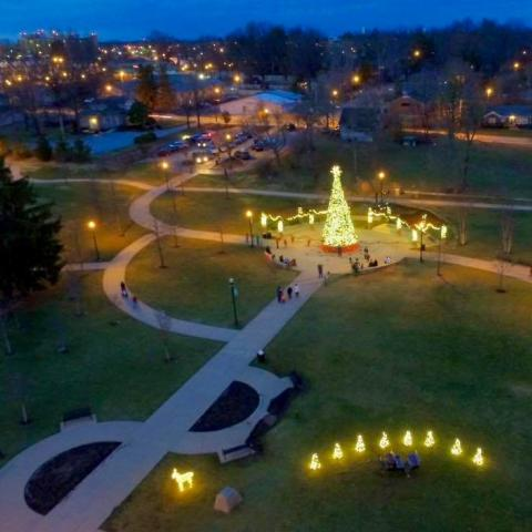 Christmas in the Park in downtown Cookeville, TN