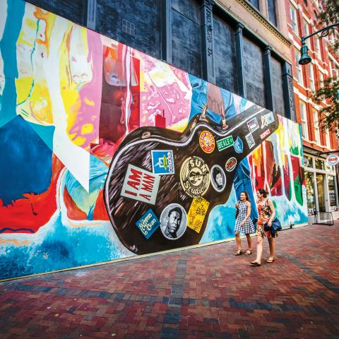 """The Sound of Memphis"" mural in downtown Memphis, TN"