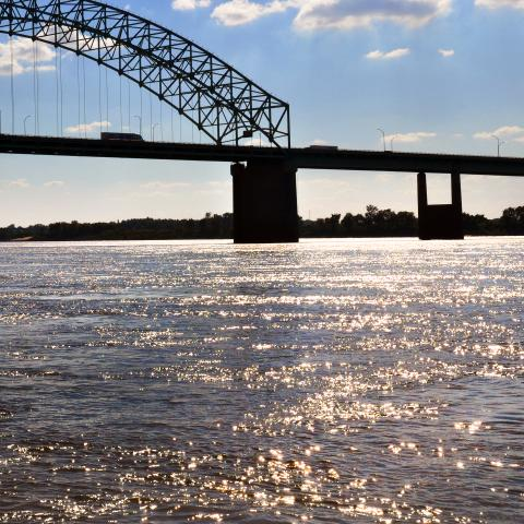 Fishing on the Mighty Mississippi River in Memphis, Tennessee