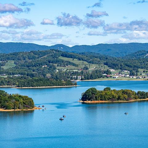 A view of Cherokee Lake in Morristown, TN