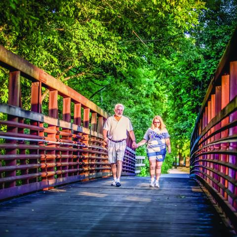 A couple on the Murfreesboro Greenway System in Murfreesboro TN
