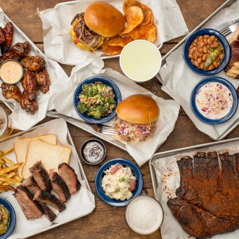 A variety of barbecue from Nashville's Martin's Bar-B-Que
