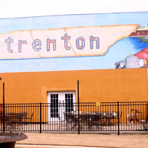 A mural that can be found in downtown Trenton, Tennessee
