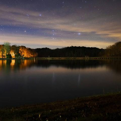 A starlit sky at Chickasaw State Park, TN