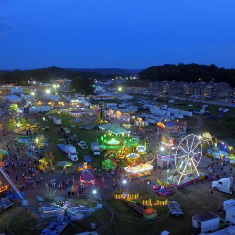 """Come Ride with the James Gang"" -- the best midway at any county fair in the state."