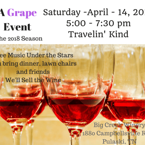 A Grape Event - Free Event - Music on the Lawn  - Big Creek Winery