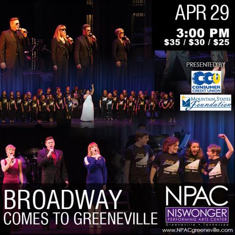 Broadway Comes to Greeneville at the Niswonger Performing Arts Center
