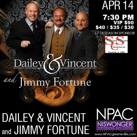 Dailey & Vincent with Jimmy Fortune at the Niswonger Performing Arts Center