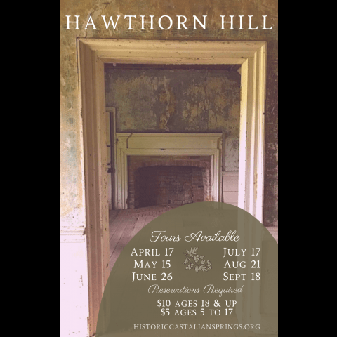 Image of Hawthorn interior with list of tour dates