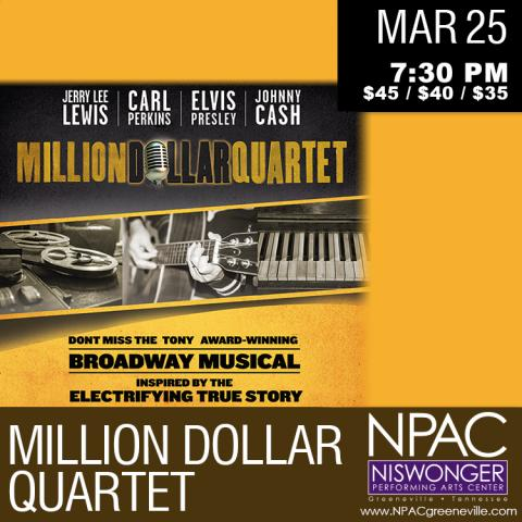 Million Dollar Quartet at the Niswonger Performing Arts Center