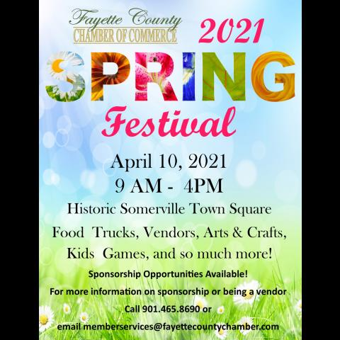 Spring Festival in the Heart of Fayette County TN.