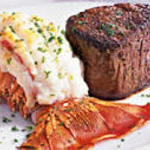 Valentines dinner  filet and lobster tail