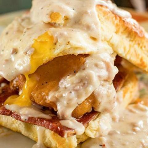 Ham, egg and cheese biscuit from Sunrise Memphis