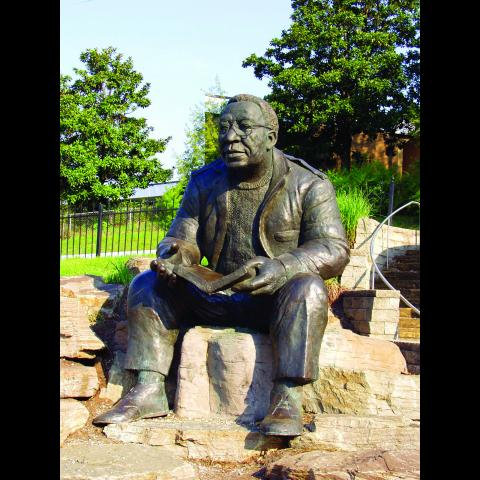 Alex Haley Statue at Haley Heritage Square