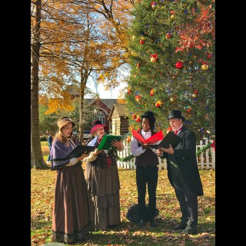 Carolers on Collierville Town Sqaure