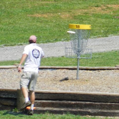 Hole 18 at Rotary disc course
