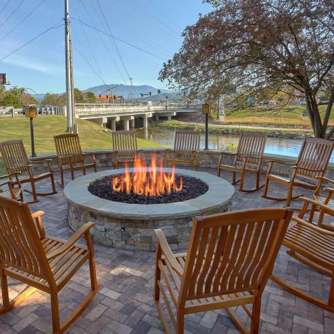 Daytime by the Fire Pit
