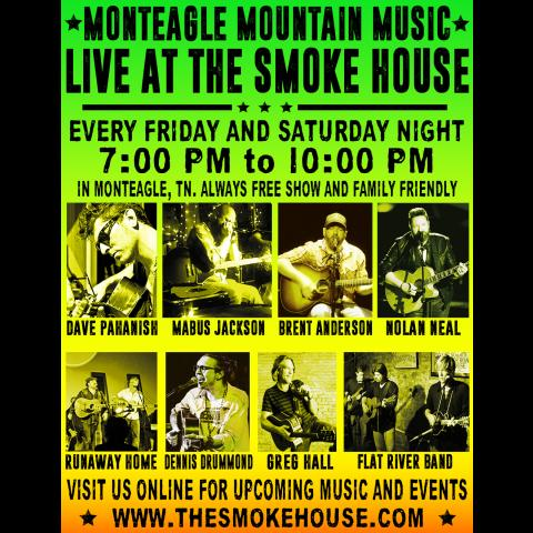 Live Music at the Smoke House Every Weekend Monteagle TN near The Caverns