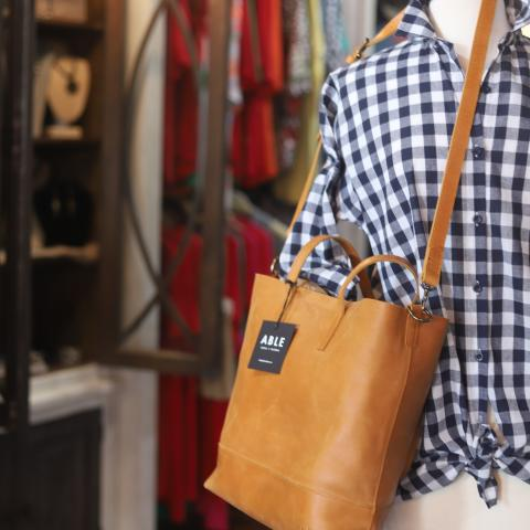 Main Boutique offers ABLE leather goods.