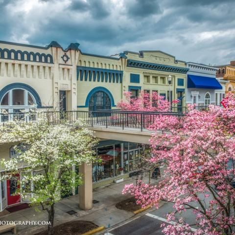 Morristown in the spring.