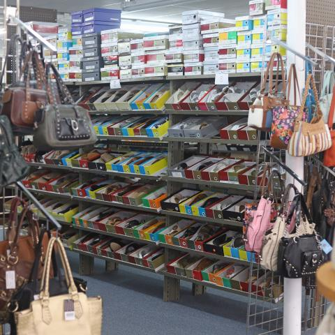 Handbags and women's shoes at Simmons Shoe Store