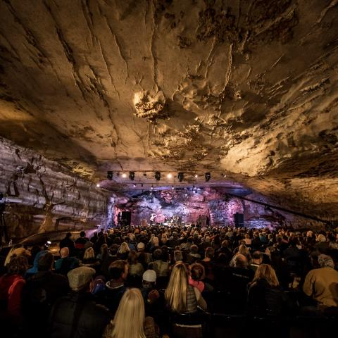 Bluegrass Underground is taped live in The Caverns in Pelham, TN