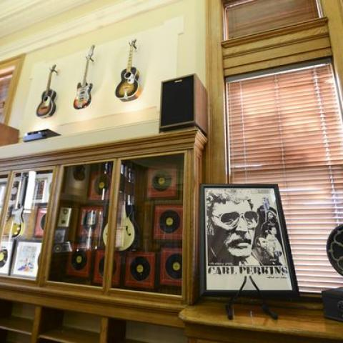 Carl Perkins room at the Southern Legends of Tennessee Music Exhibit