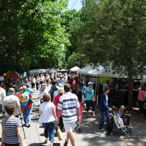 Shopping at Lenoir City Arts & Crafts Festival