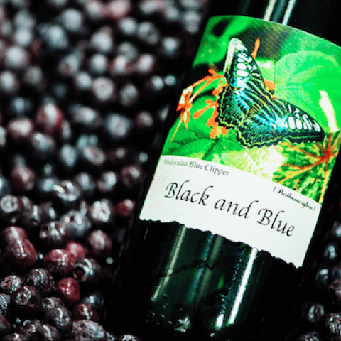 Black and Blue Wine