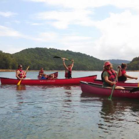 Canoeing on Cherokee Lake