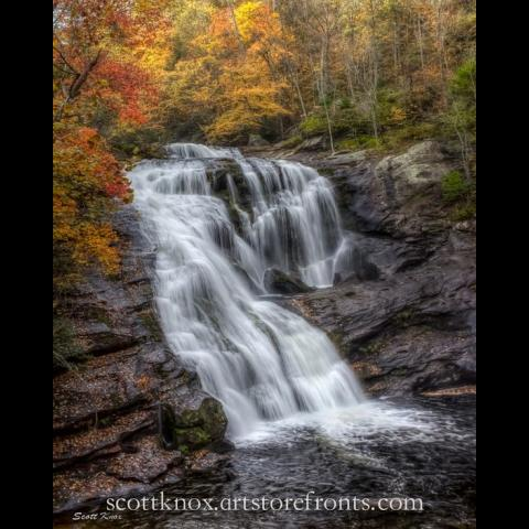 Cascading 100ft Bald River Falls is a beauty in each season