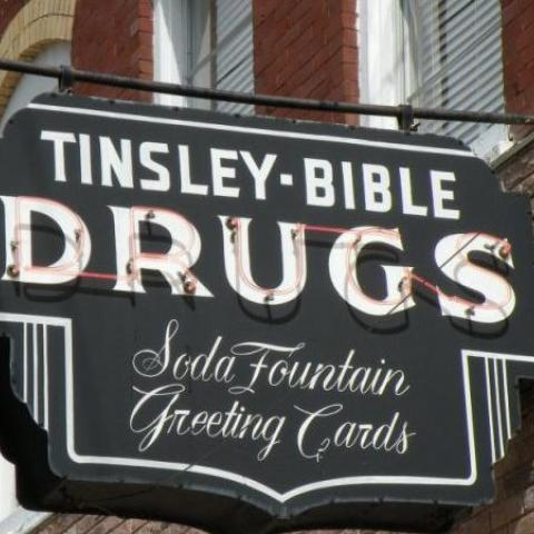 Tinsley-Bible Drug Store Sign