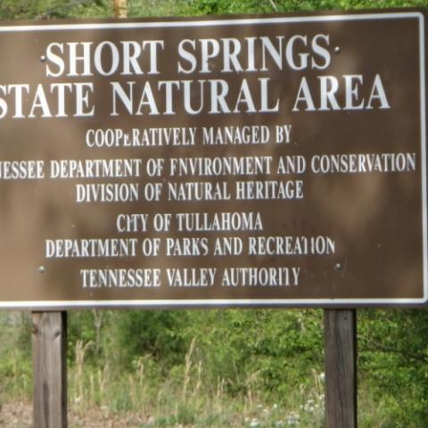 Short Spring Entrance Sign