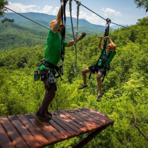 CLIMB Works Canopy Ultimate Treetop Zipline Adventure