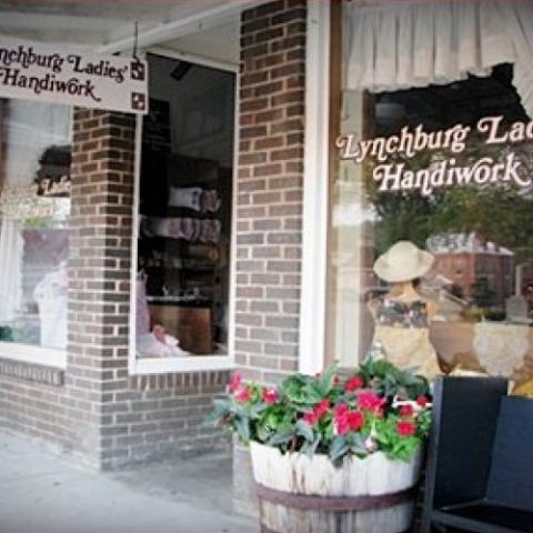 Shop for handmade items on the Historic Lynchburg Sq.