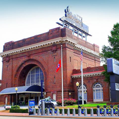 The Chattanooga Choo Choo Historic Hotel in Downtown Chattanooga, Tennessee.