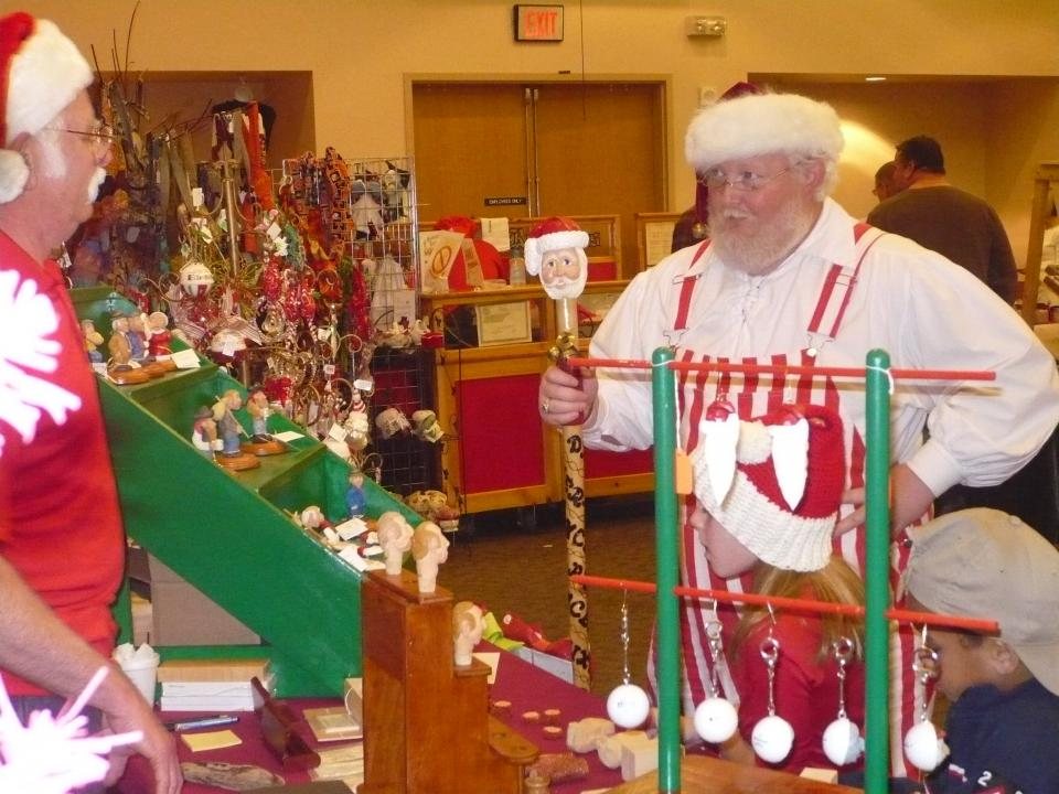 visit Santa at the annual Christmas in the Park festival