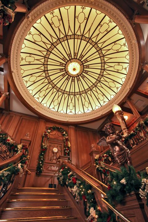 See our Edwardian Decorations during the Holiday Season!