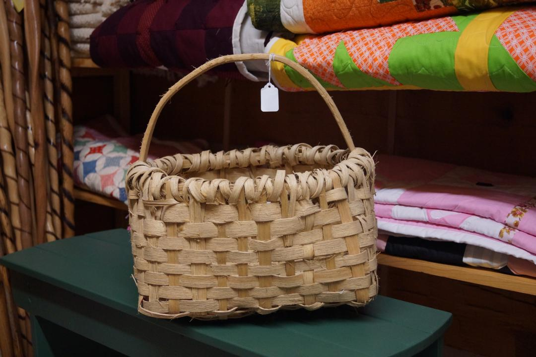 handmade white oak basket