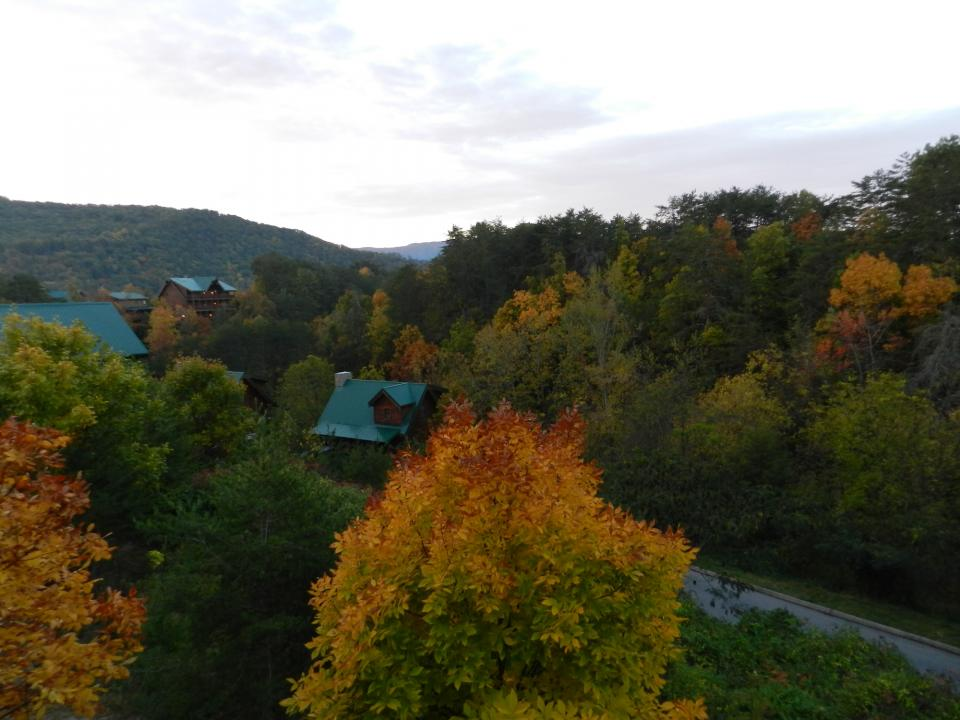 Fall view from Yeti's Retreat Pigeon Forge Luxury Cabin