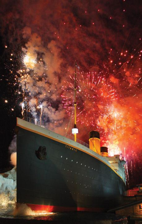 Thanksgiving Evening Fireworks at TITANIC