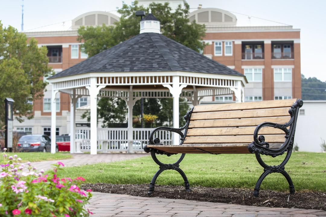 The Bruce Street Gazebo is a popular spot for outdoor events in downtown Sevierville.