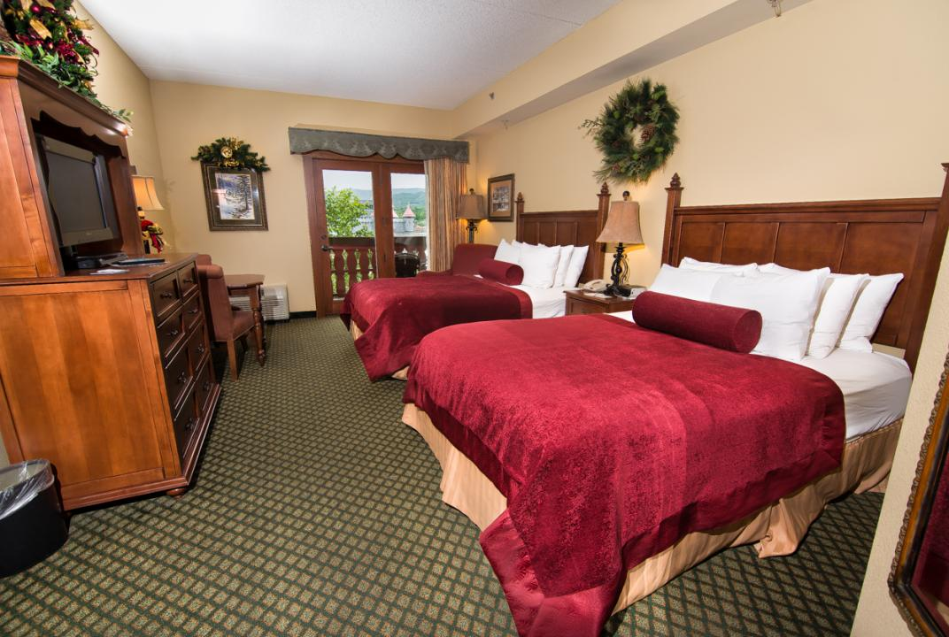 Standard double-queen guest room, The Inn at Christmas Place