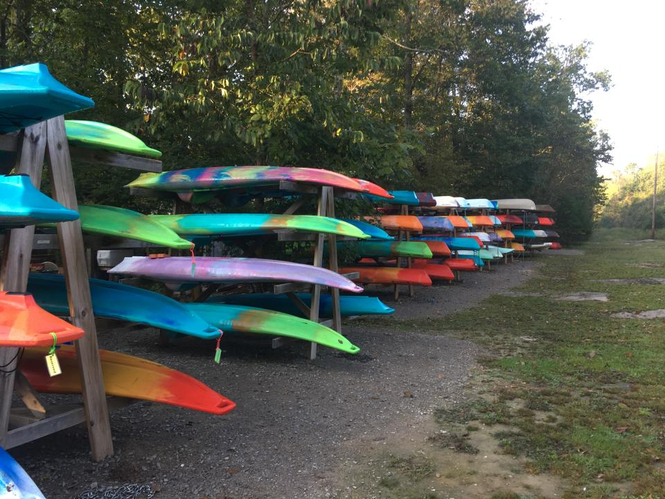 Our Kayaks at the Canoe Base