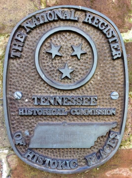 Trousdale Place's National Register of Historic Places marker