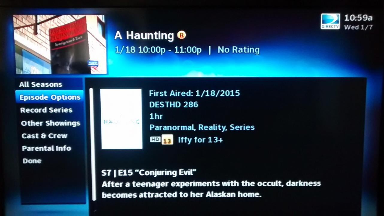 First Show on A Haunting